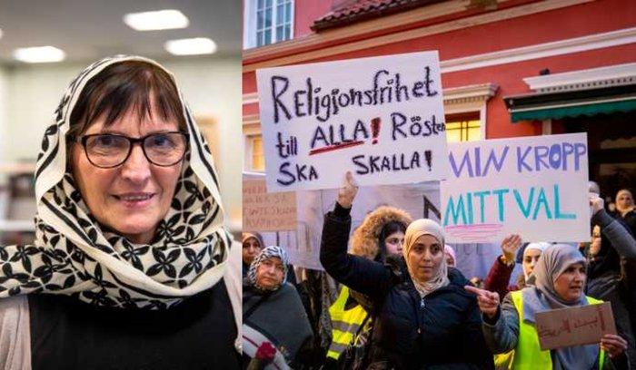 Guru Swedia pakai kerudung
