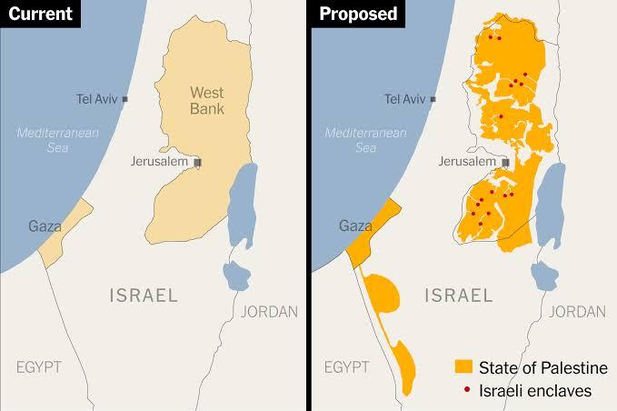 Peta palestina dan Israel
