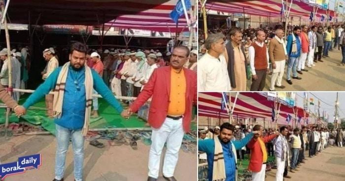 Umat Hindu Baris lindungi Salat Jumat1