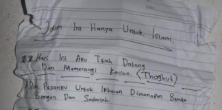Surat Terduga Isis Polsek Daha