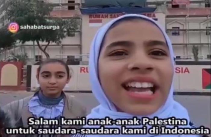 Terimakasih Anak Anak Palestina