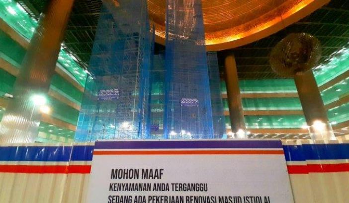 masjid istiqlal renovasi