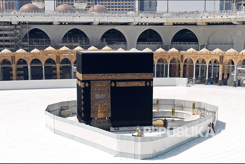 General View Of Kaaba At The Grand Mosque Which Is Almost Empty Of Worshippers, After Saudi Authority Suspended Umrah (islamic Pilgrimage To Mecca) Amid The Fear Of Coronavirus Outbreak, At Muslim Holy City Of Mecca