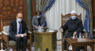 Imam Besar Al Azhar Saat Bertemu Menlu Prancis Jean Yves Le Drian