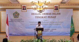 Menag Fachrul Razi saat membuka Dialog Ormas Islam Tingkat Pusat Tahun 2020