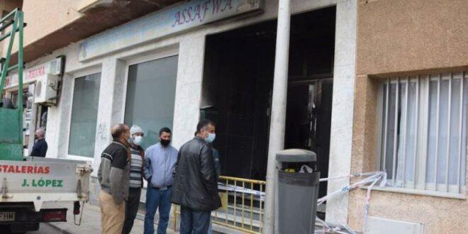 masjid dirusak dan dibakar di kota san javier, murcia, spanyol
