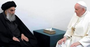 paus fransiskus bertemu ulama syiah iran ayatollah ali al sistani