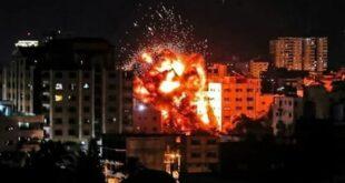 israel bom pemukiman muslim di gaza saat sahur