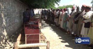 Jenazah korban penembakan saat salat tarawih di Jalalabad Afghanistan
