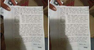 surat wasiat perempuan penyerang mabes polri