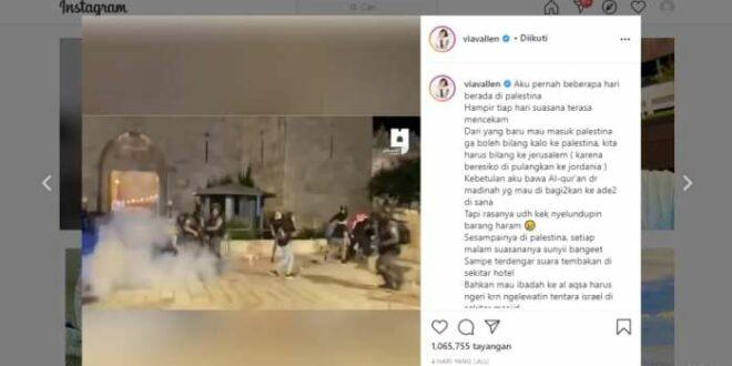 IG Via Vallen tentang Palestina