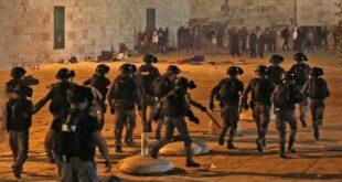 bentrokan antara polisi israel dan warga palestina di kompleks masjid al aqsa yerusalem pada jumat 75 waktu setempat 169
