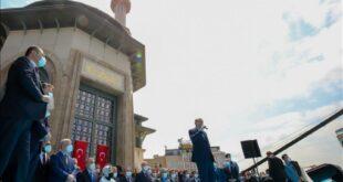 presiden turki recep tayyip erdogan berpidato dalam peresmian masjid 210529111511 459