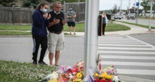 Lokasi ditabraknya satu keluarga muslim di Kanada