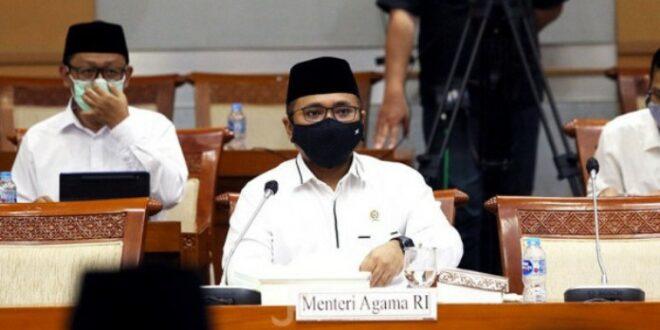 Menag Yaqut Cholil Qoumas di Komisi VIII DPR RI