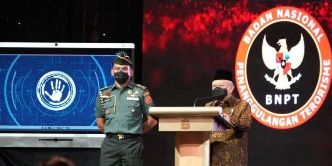 Wapres KH Maruf Amin memberikan sambutan pada peluncuran RAN PE 2020 2024