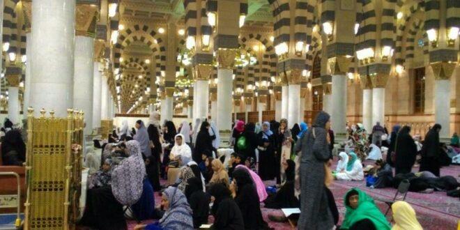 kajian agama di dalam masjid nabawi yang digelar usai  170923054137 875
