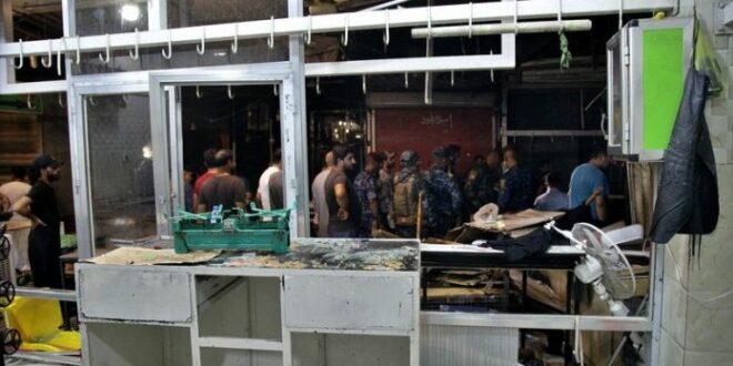 Kondisi pasar Wahailat di Sadr City Baghdad pasca ledakan bom