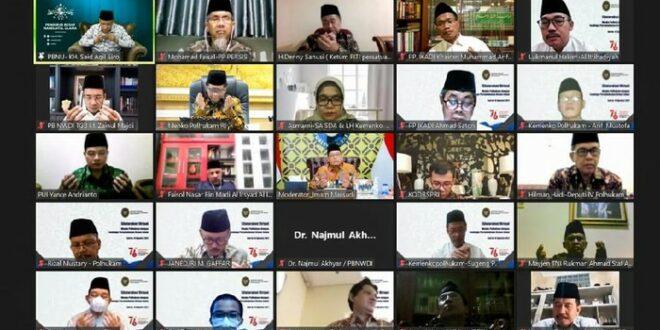 Diskusi virtual Menko Polhukam dengan Ormas Islam yang tergabung dalam LPOI