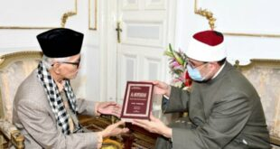 Ketua Umum MUI KH Miftachul Akhyar dan Menteri Urusan Wakaf Mesir Syeikh Mohammed Mokhtar Gomaa
