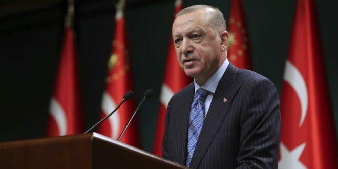 presiden turki recep tayyip erdogan berbicara setelah rapat kabinetnya