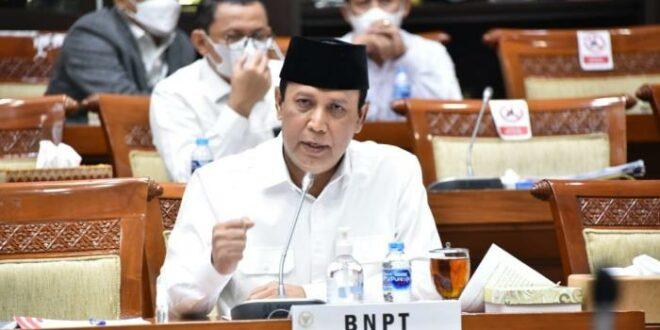 Kepala BNPT Komjen Pol Dr Boy Rafli Amar MH saat RDP dengan Komisi III DPR RI Rabu September