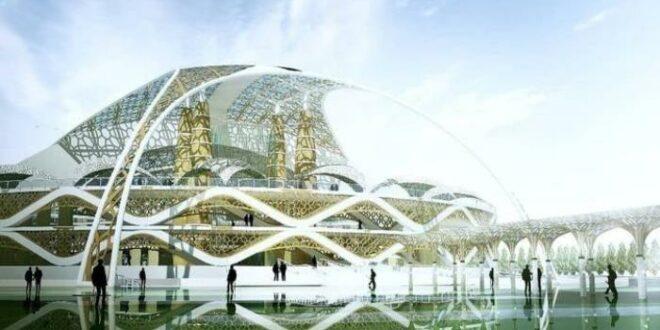Maket pembangunan Masjid Raya Sriwijaya