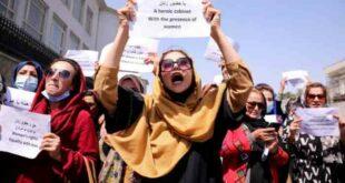 Perempuan Afghanistan menggelar protes menuntut hak pendidikan pekerjaan dan keamanan