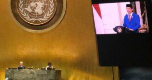 Presiden Jokowi berpidato secara virtual di depan Sidang Majelis Umum PBB ke