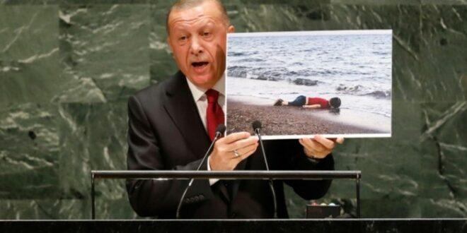 Presiden Turki Recep Tayyip Erdogan berbicara di depan Majelis Umum PBB
