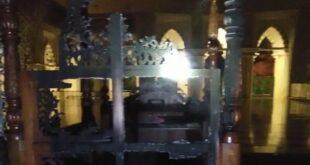 mimbar masjid raya makassar dibakar orang tak dikenal dok istimewa