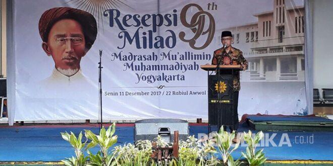 resepsi milad tahun madrasah mu allimin muhammadiyah yogyakarta mengangkat