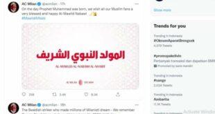 AC Milan ucapkan Selamat Maulid Nabi Muhammad