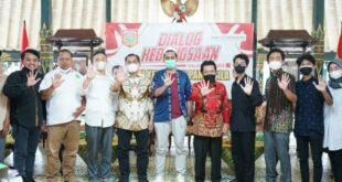 Dialog Kebangsaan Peringatan Hari Kesaktian Pancasila yang berlangsung di pendopo Kab Wonosobo Jumat petang
