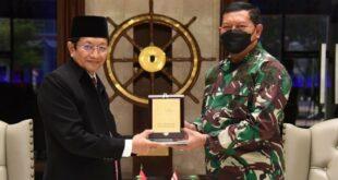 Imam Besar Masjid Istiqlal KH Nasaruddin Umar dan KSAL Laksamana Yudho Margono