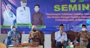 Seminar ketahanan keluarga dengan menggandeng Pondok Pesantren Ummil Mu'minin, Simbaringin, Kutorejo, Mojokerto, Jawa Timur, Senin (25/10/2021).